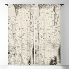1940 Vintage Map of The United States as viewed by California Blackout Curtain