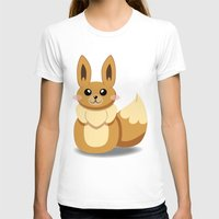 eevee T-shirts featuring Evolution Bobbles - Eevee by creativeesc