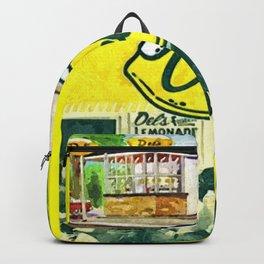 Vintage Del's Lemonade Rhode Island Vintage Advertising Poster Backpack