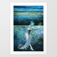 Queen of the sea... Diptych Art Print