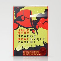 pacific rim Stationery Cards featuring Pacific Rim: Cherno Alpha Propaganda by MNM Studios