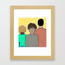 you and the moon and neptune  Framed Art Print