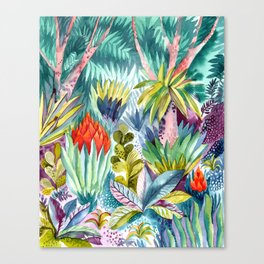Jungle with pink trees Canvas Print