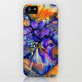 Purple and Orange Marble Pour iPhone Case