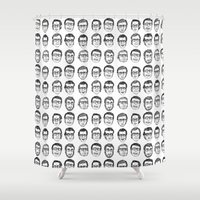 boyfriend Shower Curtains featuring The Boyfriend by Anna Cannuzz