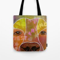 best friend Tote Bags featuring Best Friend by Roger Wedegis