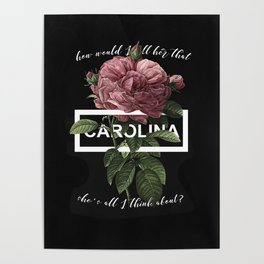 Harry Styles Carolina graphic artwork Poster