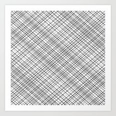 Weave 45 Black and White Art Print