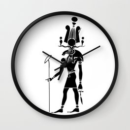 Khensu - God of ancient Egypt Wall Clock
