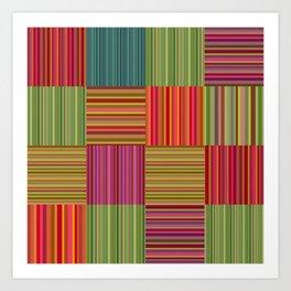 coussin en couleur Art Print