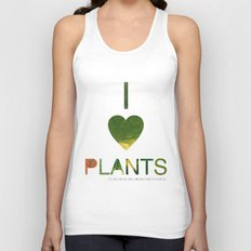 I LOVE PLANTS. Unisex Tank Top