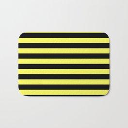 Stripes (Black & Yellow Pattern) Bath Mat