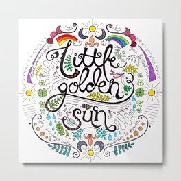 Little Golden Sun Metal Print
