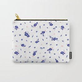 Hibiscus Hawaiian Flowers - White Carry-All Pouch