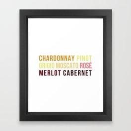 Wine Typography Spectrum Framed Art Print
