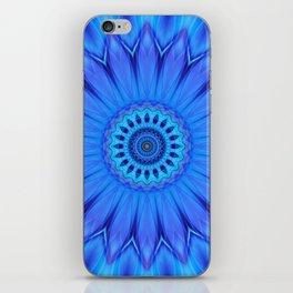 Mandala Blue Waterflower iPhone Skin