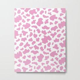 Cow Print in Pink Metal Print