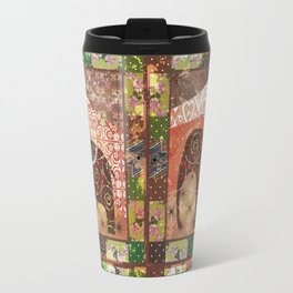 Digital illustration of an Elephant . Travel Mug