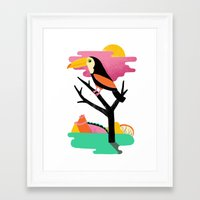 toucan Framed Art Prints featuring Toucan by Vasilisa Wise
