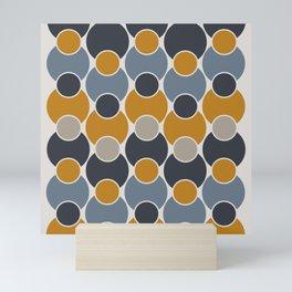 Geo-sphere - Geometric Circles Pattern Mini Art Print