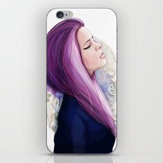 Pink hair iPhone & iPod Skin
