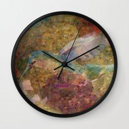 """"""" Hummingbird Pattern """" Wall Clock"""