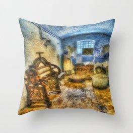 Olde Victorian Washroom Throw Pillow