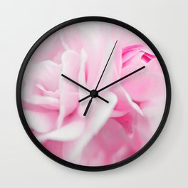 Sweet Pink Roses Wall Clock