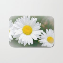 Daisies flowers in painting style 1 Bath Mat
