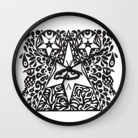 occult Wall Clocks featuring Occult  by Maelstrm