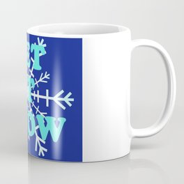 Let It Snow classic winter snowflake pattern Coffee Mug