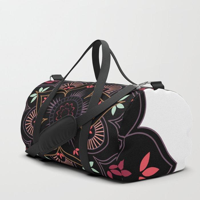 Lotus flower mandala in soft pastel colors Duffle Bag