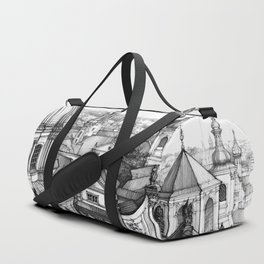 Prague over the rooftops Duffle Bag