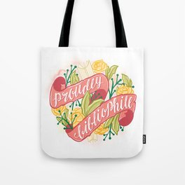 PROUDLY BIBLIOPHILE Tote Bag