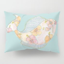 tropical watercolor fish Pillow Sham