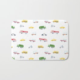 Cars and Trucks Collection Bath Mat