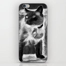 Sulley's Portrait In Black & White iPhone Skin