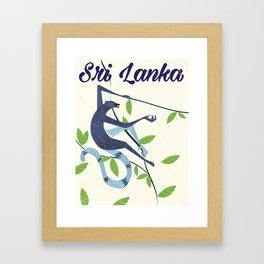 Sri Lanka Vintage style travel poster Framed Art Print