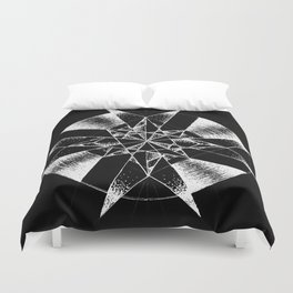Inverted Crystalline Compass Duvet Cover