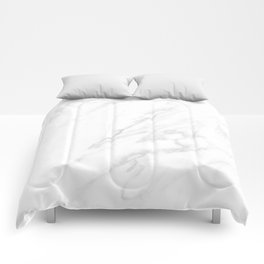 Classic White Marble Comforters
