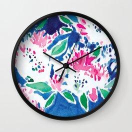 Ghost Flower Wall Clock