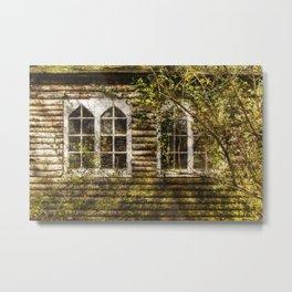 Overgrown Windows Metal Print