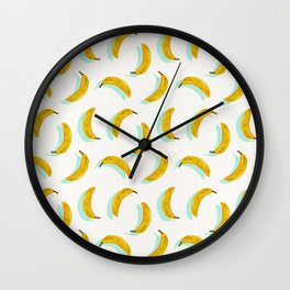 Banana Pattern – Mint Wall Clock