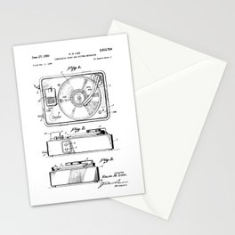 Turntable Patent Stationery Cards