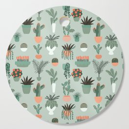 Houseplants Pattern 01 Cutting Board