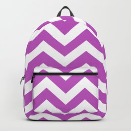 Fuchsia (Crayola) - violet color - Zigzag Chevron Pattern Backpack