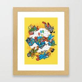 When Clown Cars Explode Framed Art Print