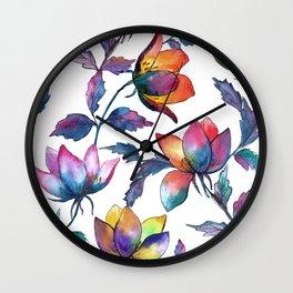 Magic fantasy flowers Wall Clock