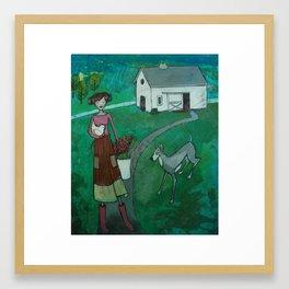 farm girl Framed Art Print