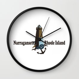 Nantucket Island. Wall Clock